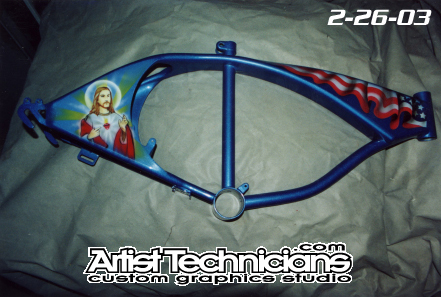 chicanito lowrider bike frame side 1